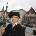 Nachtwächterin am Stadtplatz, Steyr, 20.03.2010
