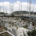 Friedhof an der Ostküste Lefkas (Mittelgriechenland); 24.05.2013