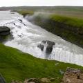 """Gullfoss (zweistufiger Wasserfall am \""""Golden Circle\""""); 30.07.2006"""