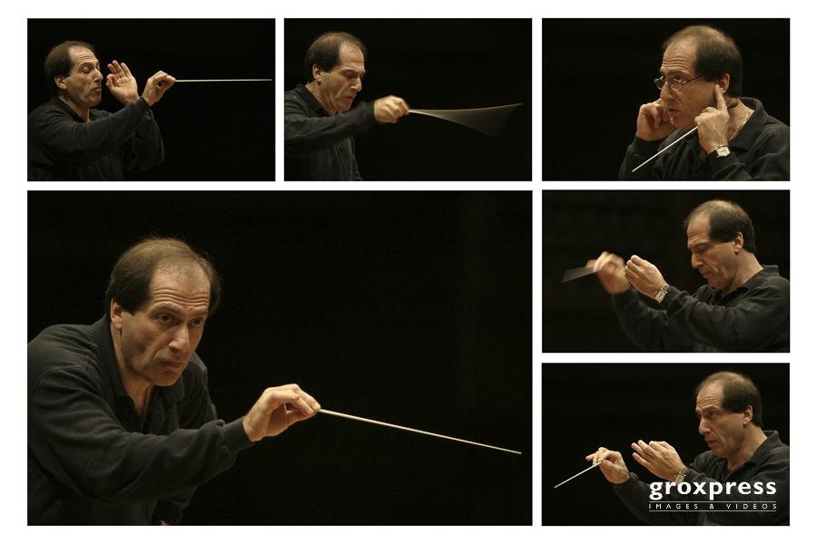 Pavel Kogan (Dirigent) bei Generalprobe; Brucknerhaus Linz, 10.1