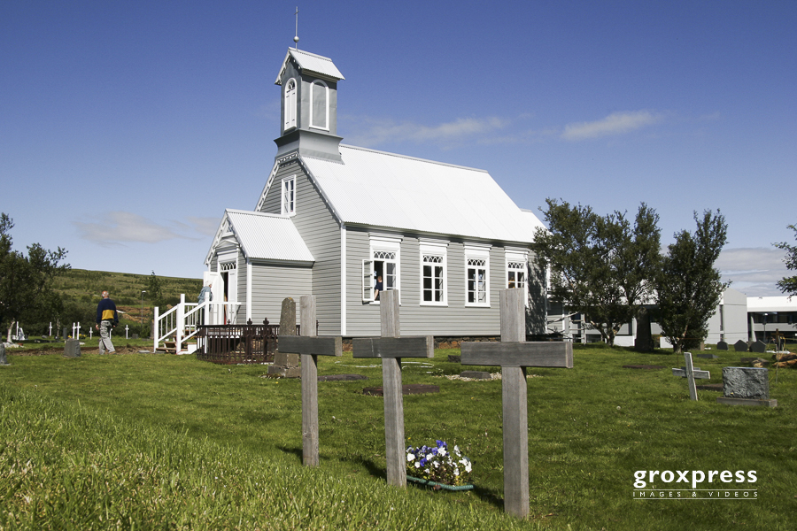 die alte Kirche in Reykholt