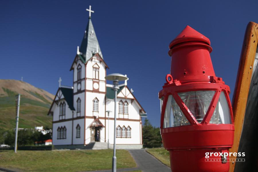 Kirche in Húsavik