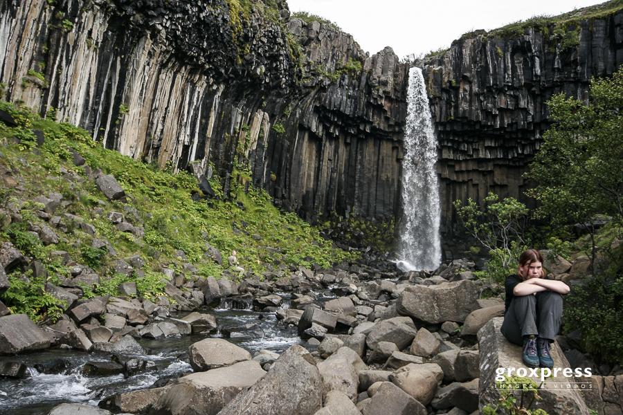Svartifoss (Schwarzer Wasserfall) im Skaftafell-NP