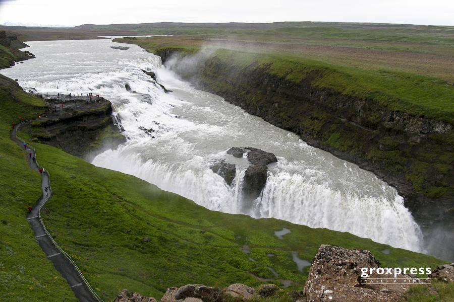 """Gullfoss (zweistufiger Wasserfall am """"Golden Circle"""")"""