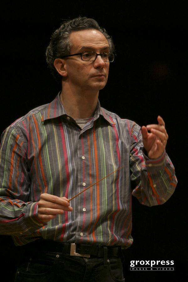 Fabio Luisi (Dirigent) bei der Generalprobe; Brucknerhaus Linz,