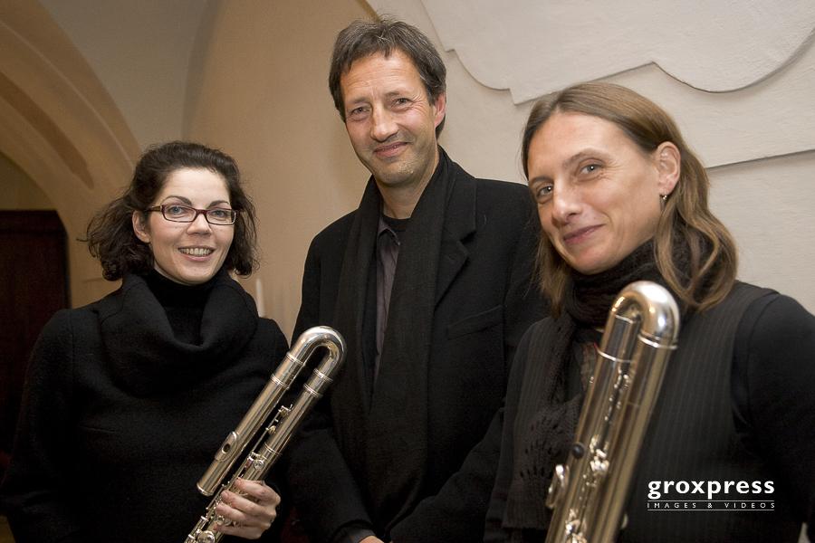 Musica Sacra: HOLLINETZ - v.l. Catrin Stepanek (Bassflöte), Kla