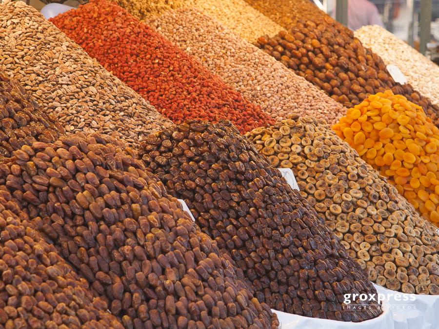 Früchtestand am Gauklerplatz (Marrakech)