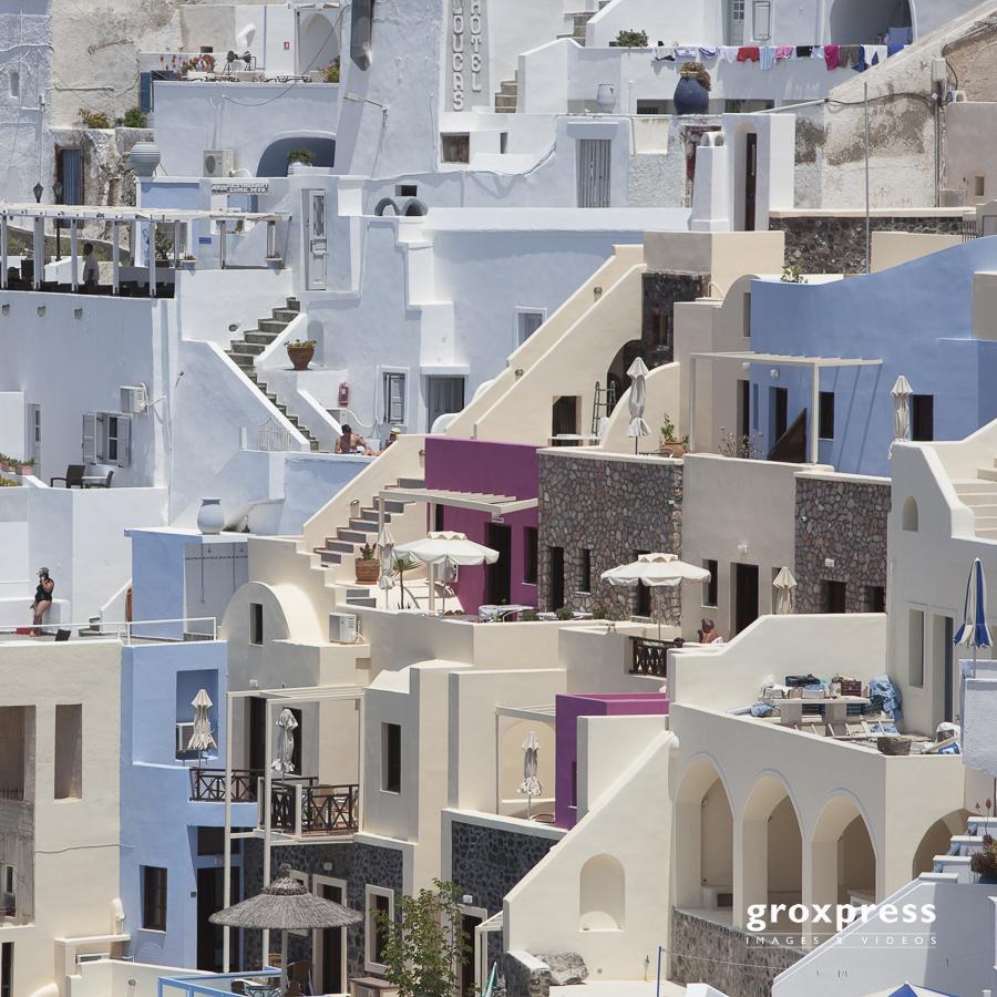 Fira - Häuser dicht an dicht