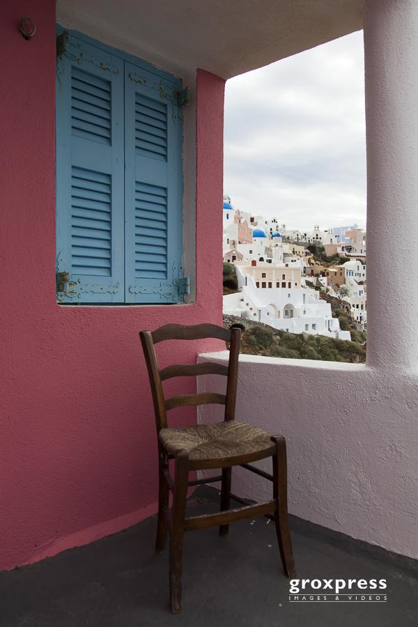 Terrasse in Fira